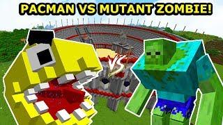 MUTANT ZOMBIE VS PACMAN! Kto Wygra?! ARENA WALKI BOSSÓW MINECRAFT!