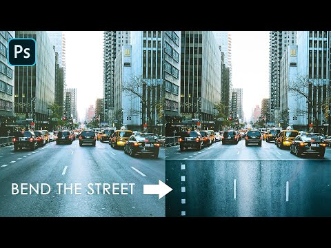 How To EASILY BEND A STREET/ROAD In Photoshop (to Make Some Cool Photo Manipulation After)