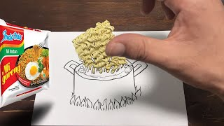 Tried making Instant Ramen inside the paper【paraderumanga】【stopmotion】