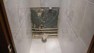 видео Как аккуратно спрятать трубы в туалете - три лучших способа!