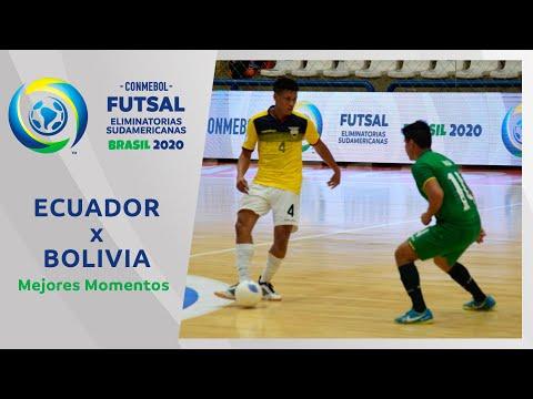 Ecuador 2-0 Bolivia l Futsal Eliminatorias 2020