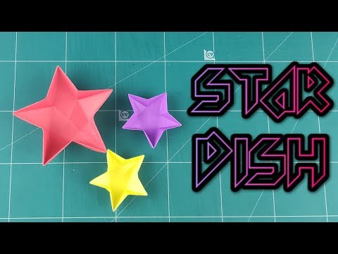 How to Make A Star Dish - Origami a Easy Bowl Plate Paper Instruction Tutorials   DIY Paper Idea