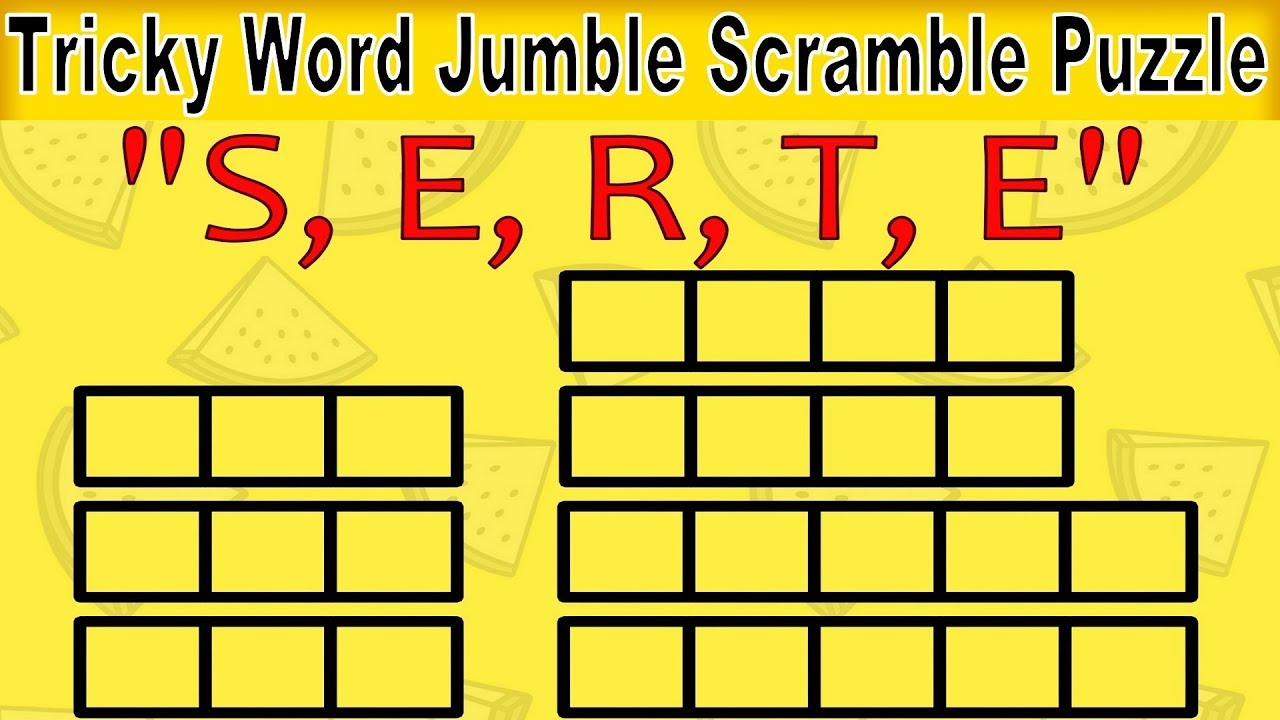 Mind Twisting Word Scramble Puzzle For Kids Unscramble Letters