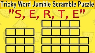 Mind Twisting Word Scramble Puzzle for Kids | Unscramble Letters | Word Jumble Puzzles