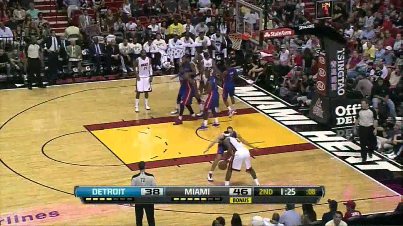 39c27b7b3b1 LeBron James 26 points (sick putback dunk) vs Detroit Pistons full  highlights 04.08.2012