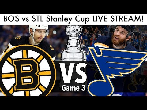 Bruins Vs Blues Stanley Cup Final Game 3 LIVE STREAM! (Reaction & Talk 2019 NHL/Hockey Playoffs)