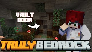 A Noobs Vault Piston Door! Truly Bedrock SMP | Season 1