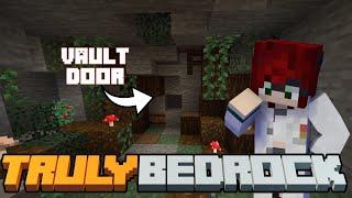 A Noobs Vault Piston Door! Truly Bedrock SMP | Season 1