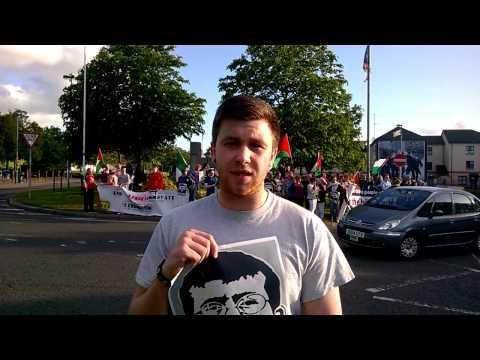 Ógra Shinn Féin Doire solidarity rally for Palestinian hunger striker