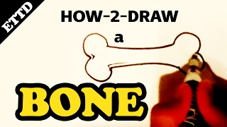 How to Draw a Bone - Easy Things to Draw