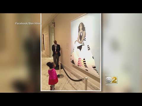 Girl Mesmerized By Obama Portrait Meets Former First Lady