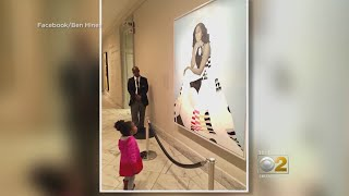 2-Year Old Mesmerized By Michelle Obamas Portrait