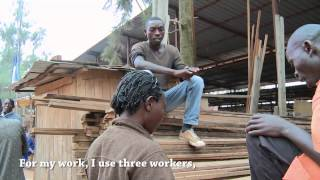 Doing wood business with Eriada - at ADARWA cooperative