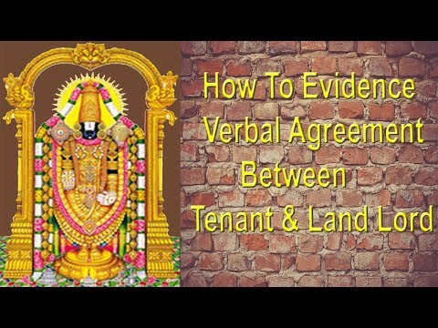 EP-32 How To Evidence Verbal Agreement Between Tenant & Land Lord ?  Legal Advice/कानूनी सलाह