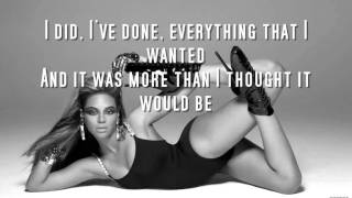 Beyonce I Was Here (Lyrics On Screen)