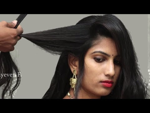 Best Hairstyles For Wedding Party Hair Style Girl Indian Traditional Hairstyles For Saree Youtube