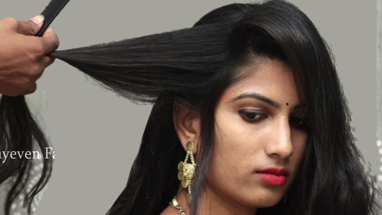 best hairstyles for wedding/party || hair style girl || indian traditional hairstyles for saree