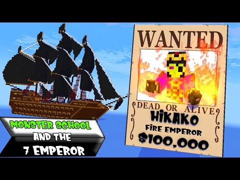 MONSTER SCHOOL AND THE 7 EMPEROR    SEASON 4 PART 1     Minecraft Animation