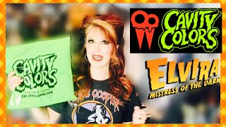 Cavity Colors Elvira Collection Unbagging/Unboxing The Queen Of Halloween Haul