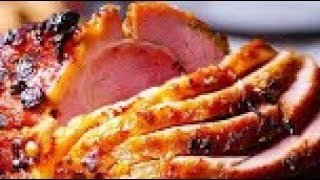 4 Dinner Recipes For Family - Honey Mustard Glazed Ham