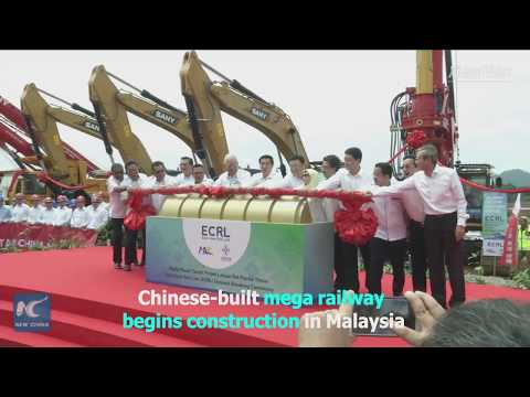 Chinese-built mega railway begins construction in Malaysia