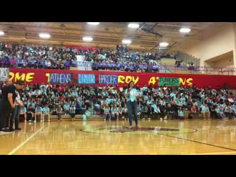 Athens Charity Week Pep Assembly 2018