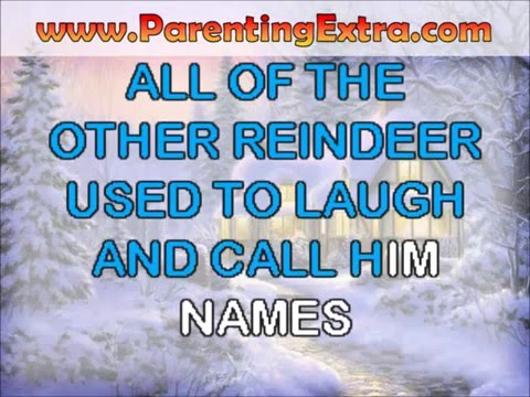 Rudolph the red nosed reindeer karaoke   modern christmas karaoke videos