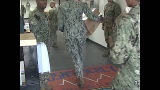 Military personnel load Navy hospital ship with medical supplies before it leaves for LA | ABC News