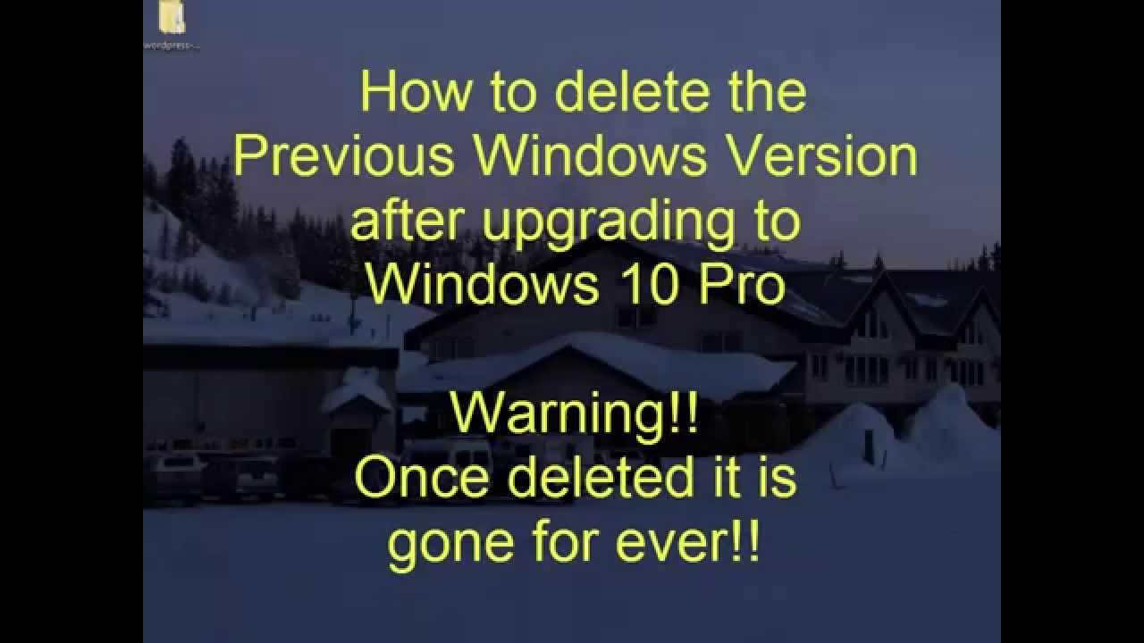 how to delete previous windows