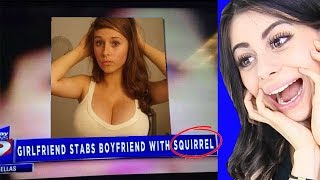 Girl Stabs Boyfriend WITH SQUIRREL! (Stupidiest People)