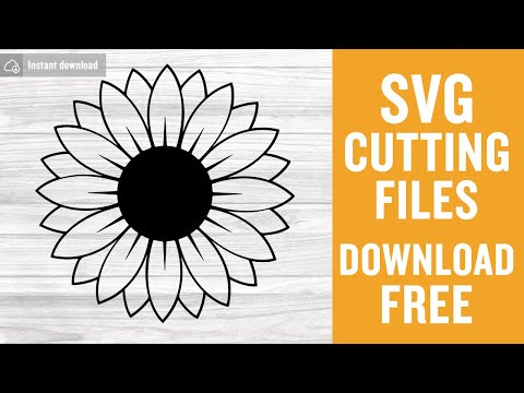 Stencil Sunflower Sunflower branch Silhouette flowers leaves Sunflower svg template Template Cut File SVG for Cricut and Silhouette