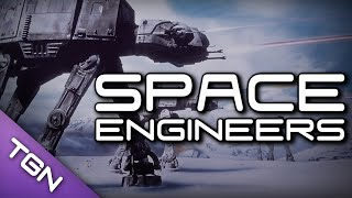 Space Engineers : Star Wars - Snow Speeder vs AT-AT