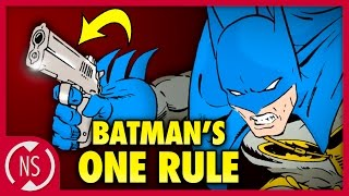 Why BATMAN Doesn't Use Guns (Except When He Does) || Comic Misconceptions || NerdSync