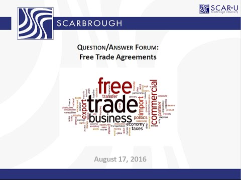 Free Trade Agreements: Manufacturing outside of USA