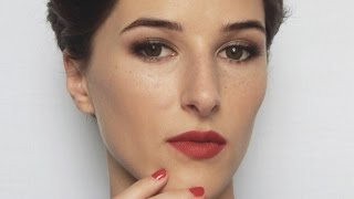 dolce and gabbana monica bellucci makeup tutorial   brown smokey eyes