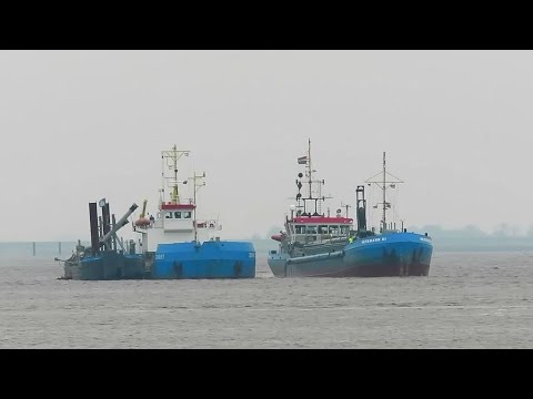 hopper dredgers Emden HEGEMANN III PDAQ IMO 7739662 and ZINGST DQKX 9124562
