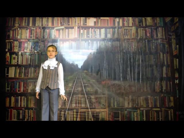 Изображение предпросмотра прочтения – ВарвараМаксутова читает произведение «Железная дорога» Н.А.Некрасова