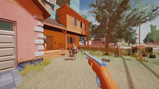 como conseguir el rifle he disparado al vecino   hello neighbor easter egg gun new secret