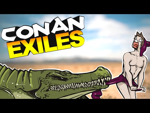 Conan Exiles - TWERKING DANCING MAN TAKES ON GIANT ALLIGATOR BOSS #6 - Conan Exiles Gameplay