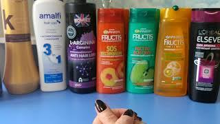 Разбираем мои запасы Шампуни для волос бальзамы маски