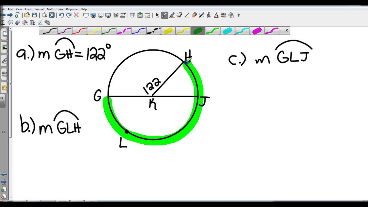Geometry 10 2 Measuring Angles and Arcs - YouTube