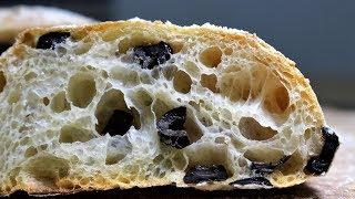 How To Make No Knead Black Olive Ciabatta_Poolish_88%Hydration_9%Olive Oil_Lodge_Dutch Oven