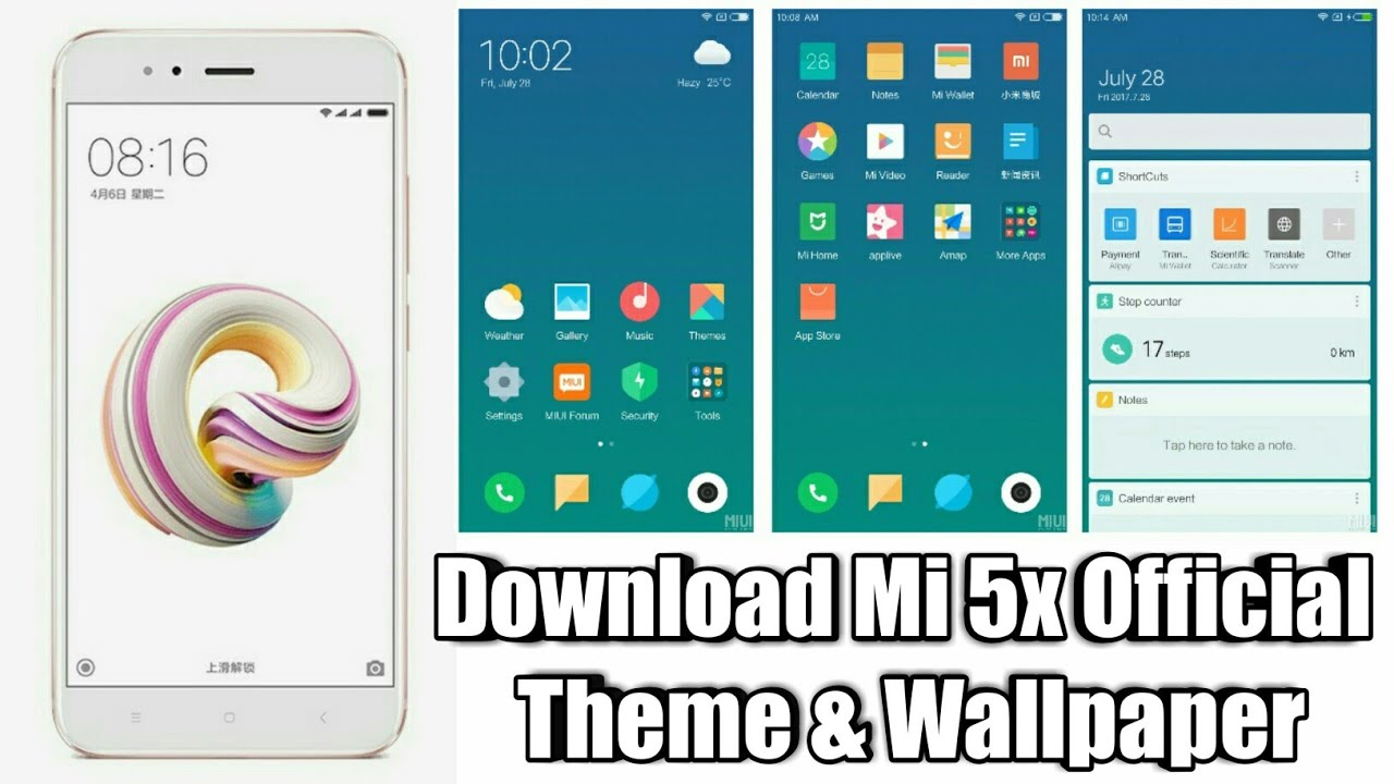 Download mi 5x/miui 9 themes for all mi phone users