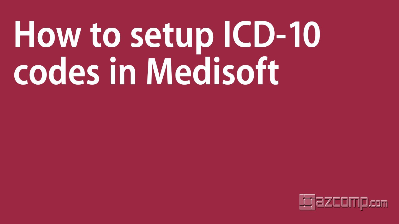 How to setup icd 10 codes in medisoft youtube how to setup icd 10 codes in medisoft xflitez Image collections