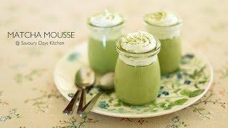 GREEN TEA MOUSSE recipe - Cách làm MOUSSE TRÀ XANH