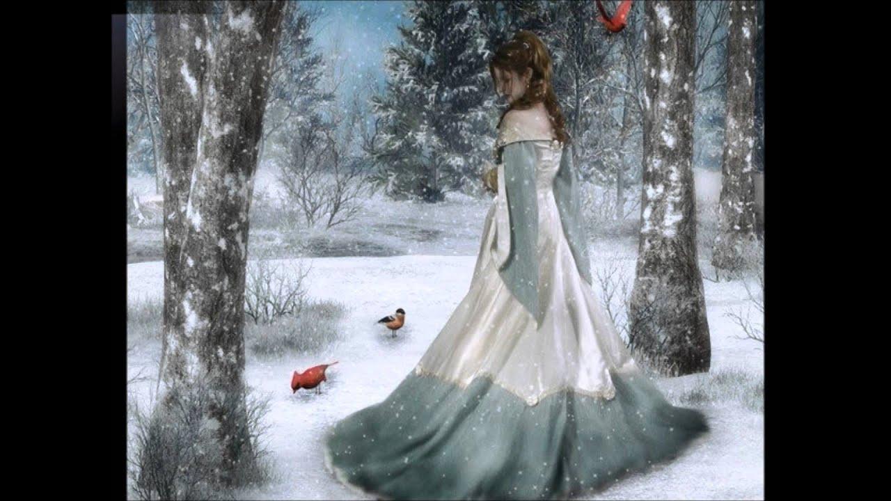 Береза картинка зимой