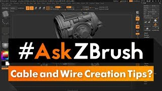 """#AskZBrush: """"Do you have any tips for creating cables and wires in precise locations?"""""""