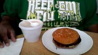 Eating/whispering Asmr - Turkey Burger And Elote Mexican Corn