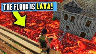 THE FLOOR IS LAVA!! - Fortnite Battle Royale