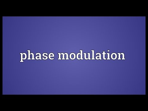 Phase modulation Meaning
